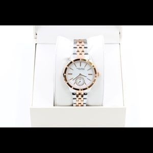 Anne Klein Accessories - Anne Klein Womens Silver Rose Gold Watch Crystal